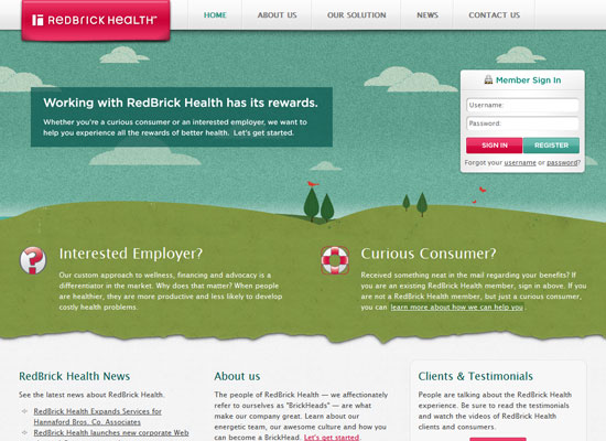 RedBrick Health website screenshot