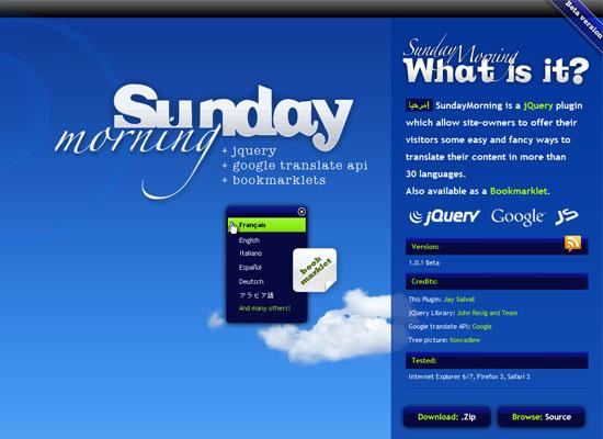 Sunday Morning: jQuery + Google Translation