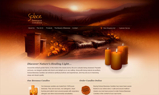 Solace Beeswax Candles
