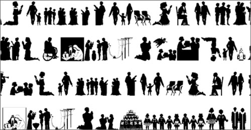Nativity Silhouette Template Dingbats of silhouettes with a