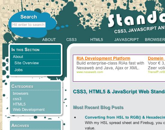 Top 20 HTML5 and CSS3 sites to inspire you