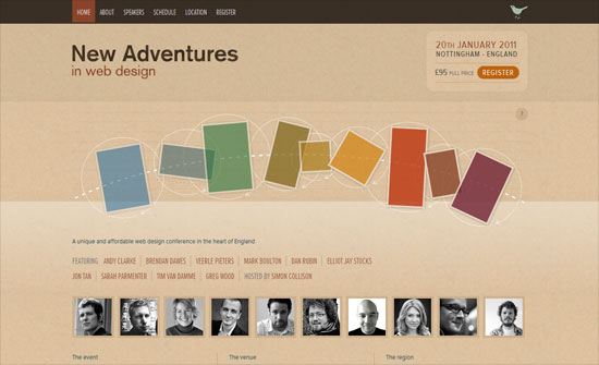New Adventures in Web Design conference