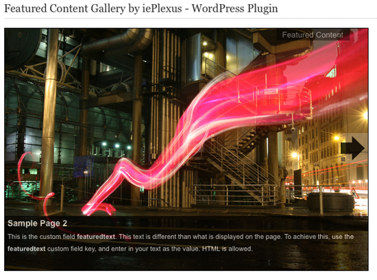 WordPress Gallery Slideshow