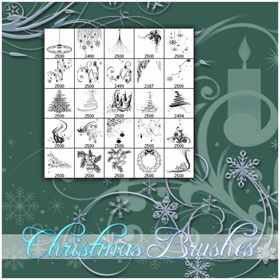 Christmas Icons and Brushes