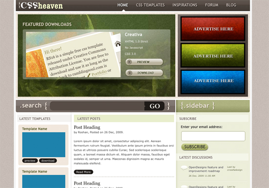 HTML CSS Templates