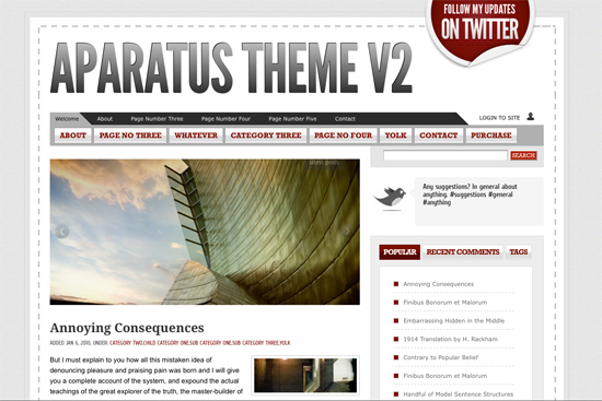 WordPress Theme White