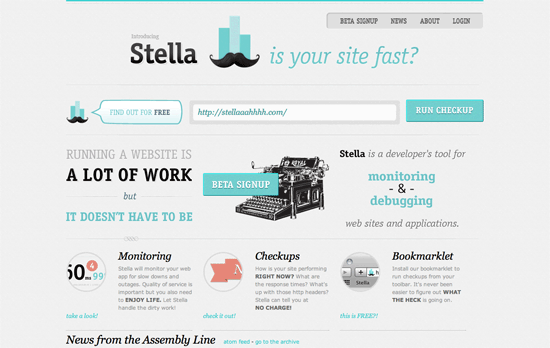 Web monitoring with Stella