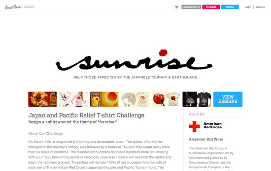 Japan and Pacific Relief T-shirt Challenge