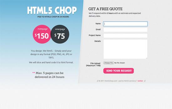 HTML5 Chop