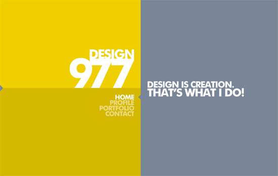 Design 977 website