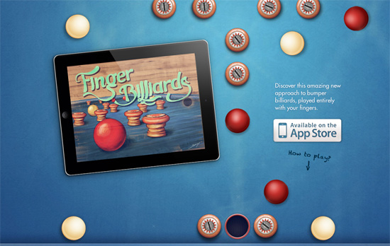 Fingerbilliards website