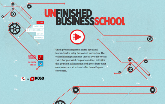 MOSO Unfinished Business School website