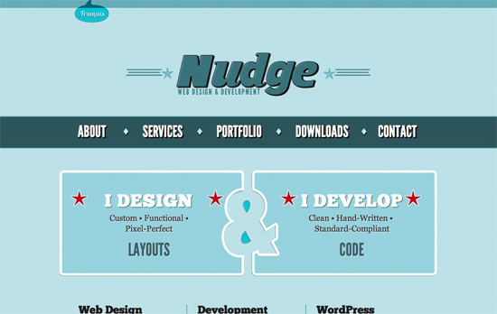 Nudge Design website