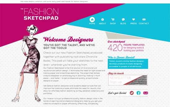 The Fashion Sketchpad website
