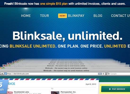 BlinkSale website