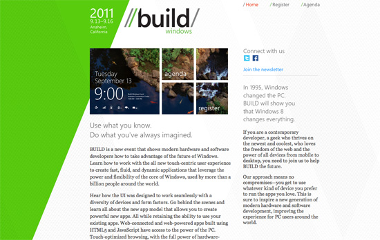 BUILD Windows website