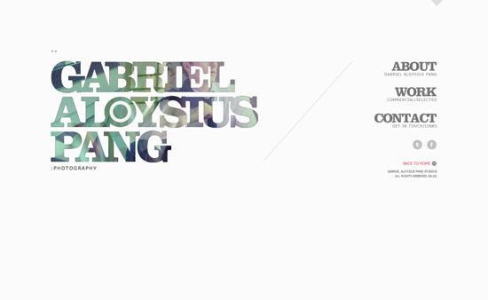 Gabriel Aloysius Pang website