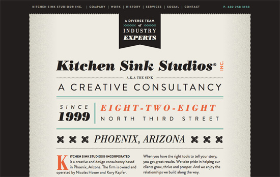Kitchen Sink Studios website