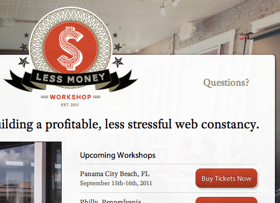 LessMoney Workshop website