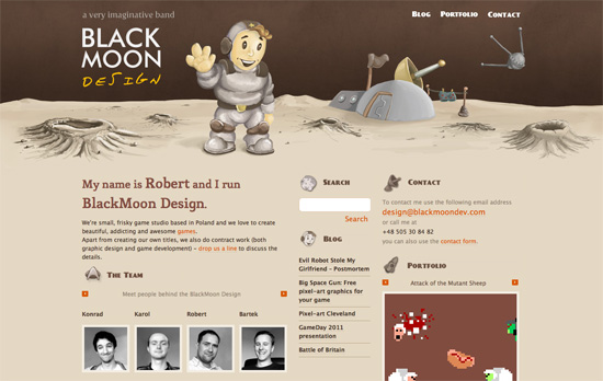 BlackMoon Design website