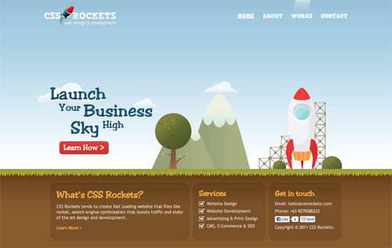 CSS Rockets website