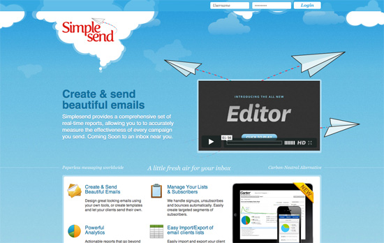 Simple Send website