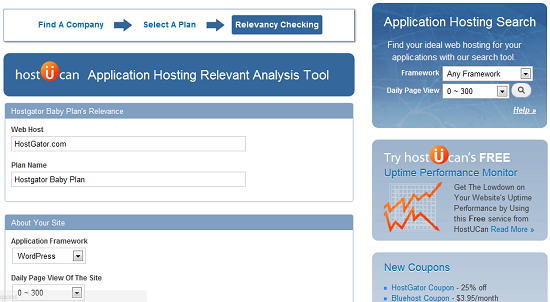 HostGator Framework Selection - HostUCan - Step 4