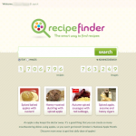 Recipe Finder Home Page
