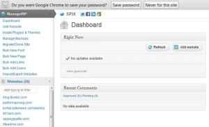 WPManage Dashboard