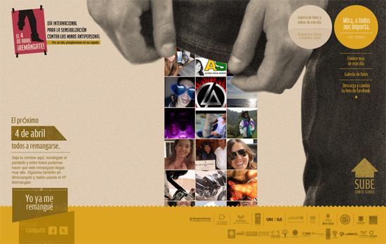 Día Internacional para Sensibilización contra las Minas Antipersonal website