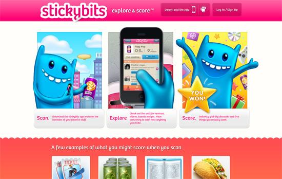Stickybits website