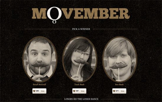 Octavo Designs Movember website