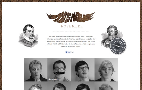 No Shave History website