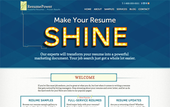ResumePower website