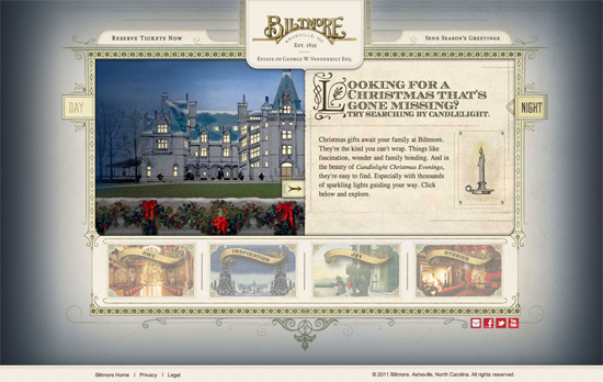 Celebrate Christmas at Biltmore website