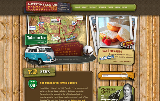 The Cottonseed Oil Tour website