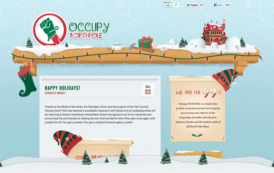 Occupy North Pole website