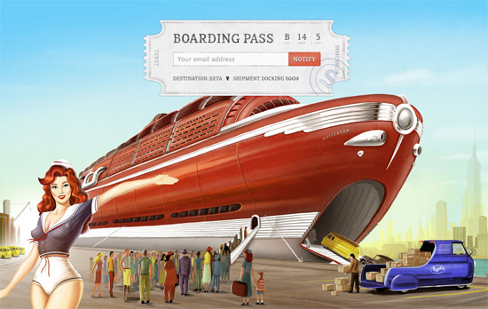 Shipment App website