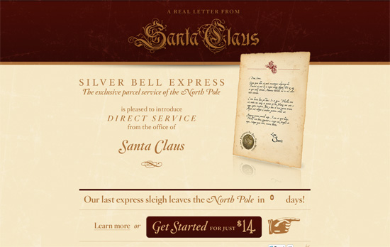 A Real Letter from Santa Claus website