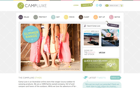 Camp Luxe website