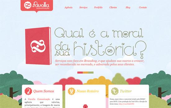 Favolla Comunicação website