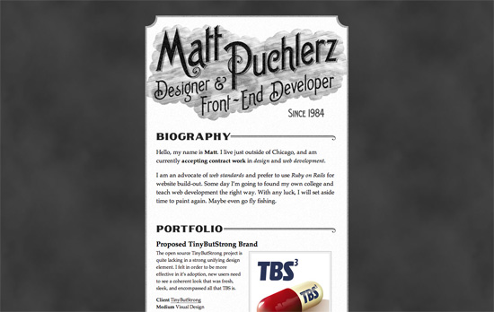Matt Puchlerz's website