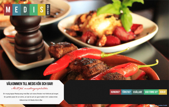 Medis Kök & Bar website