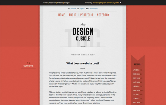 The Design Cubicle website