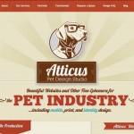 Atticus Pet Design Studio website