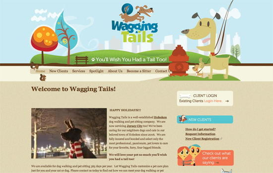 Waggingtails website