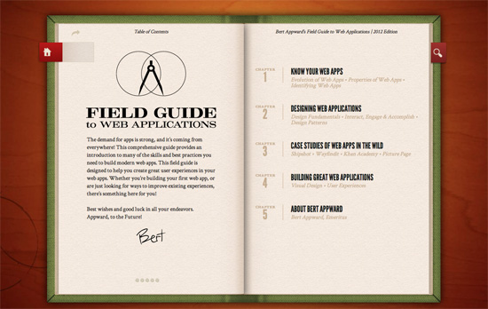 Bert Appward's Field Guide to Web Applications website