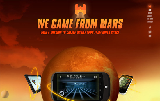 We Came From Mars website