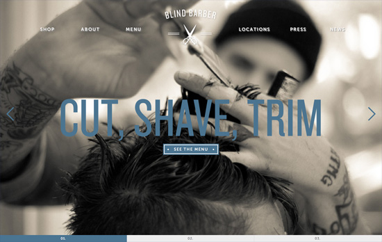 Blind Barber website