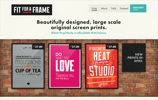 Fit for a Frame website